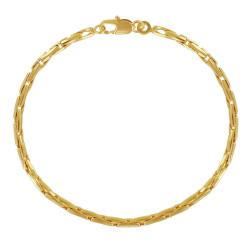 Bracelet Plaqué Or Mailles Grain de Riz