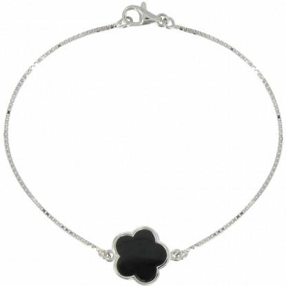 Bracelet Argent Chance et Onyx Noir