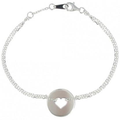 Bracelet Argent Coeur et Cercle