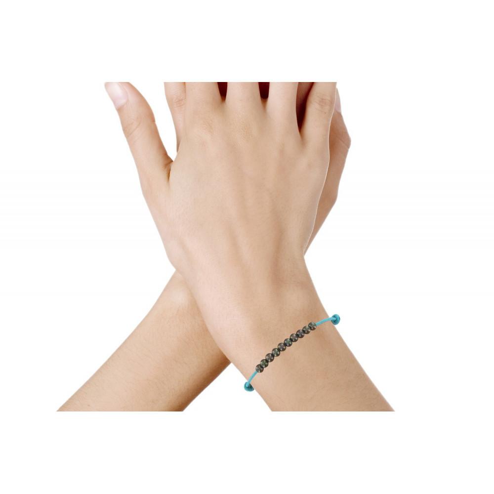 bracelets fantaisie femme bracelet lien numero  perle noire des poulettes orange
