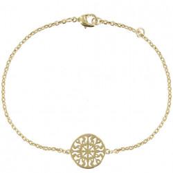 Bracelet Arabesque Ronde Plaqué Or