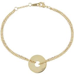 Bracelet Jeton Plaqué Or