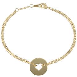 Bracelet Plaqué Or Coeur et Cercle