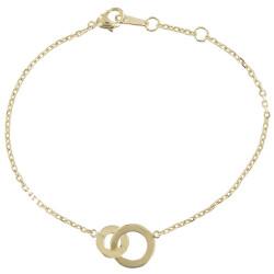 Bracelet Double Anneaux Plaqué Or