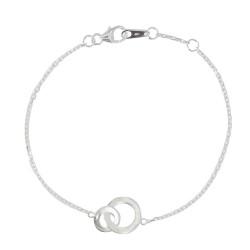 Bracelet Argent Double Anneaux