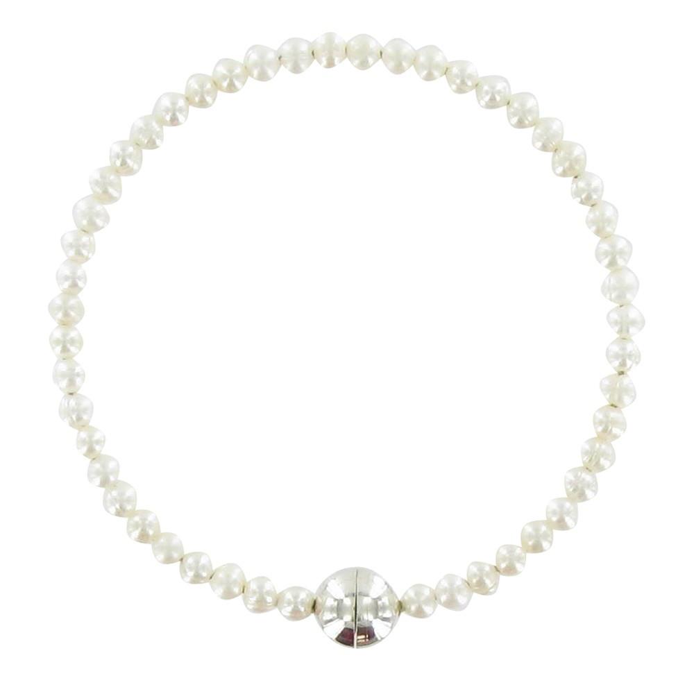 bracelet anneau de perles de culture blanches. Black Bedroom Furniture Sets. Home Design Ideas