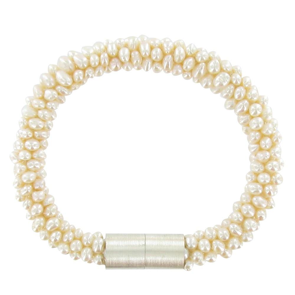 bracelet torsade de perles de culture blanche. Black Bedroom Furniture Sets. Home Design Ideas