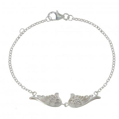 Bracelet Deux Ailes d'Ange Argent 925