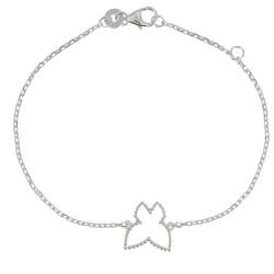Bracelet Papillon Billes d'Argent