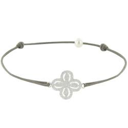 Bracelet Lien Argent Fleur de Strass - Classics
