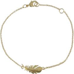 Bracelet Plaqué Or Plume d'Oiseau