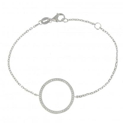 Bracelet Argent Cercle de Strass