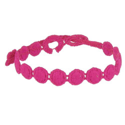 Cruciani Bracelet Dentelle Confettis Fuchsia