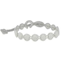 Cruciani Bracelet Dentelle Confettis Gris Clair