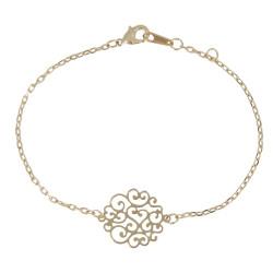 Bracelet Rosace Fleurie Plaqué Or