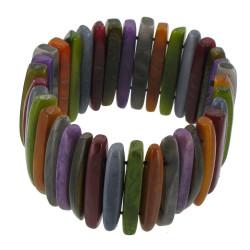 Bracelet Lamelles de Tagua Multicolore Automne