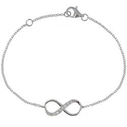 Bracelet Argent Infini et Strass