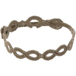 Cruciani Bracelet Dentelle Infini Marron