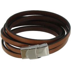 Bracelet Cuir et Fermoir Acier Inoxydable - Classics