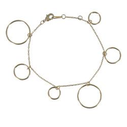 Bracelet Plaqué Or Multi Anneaux