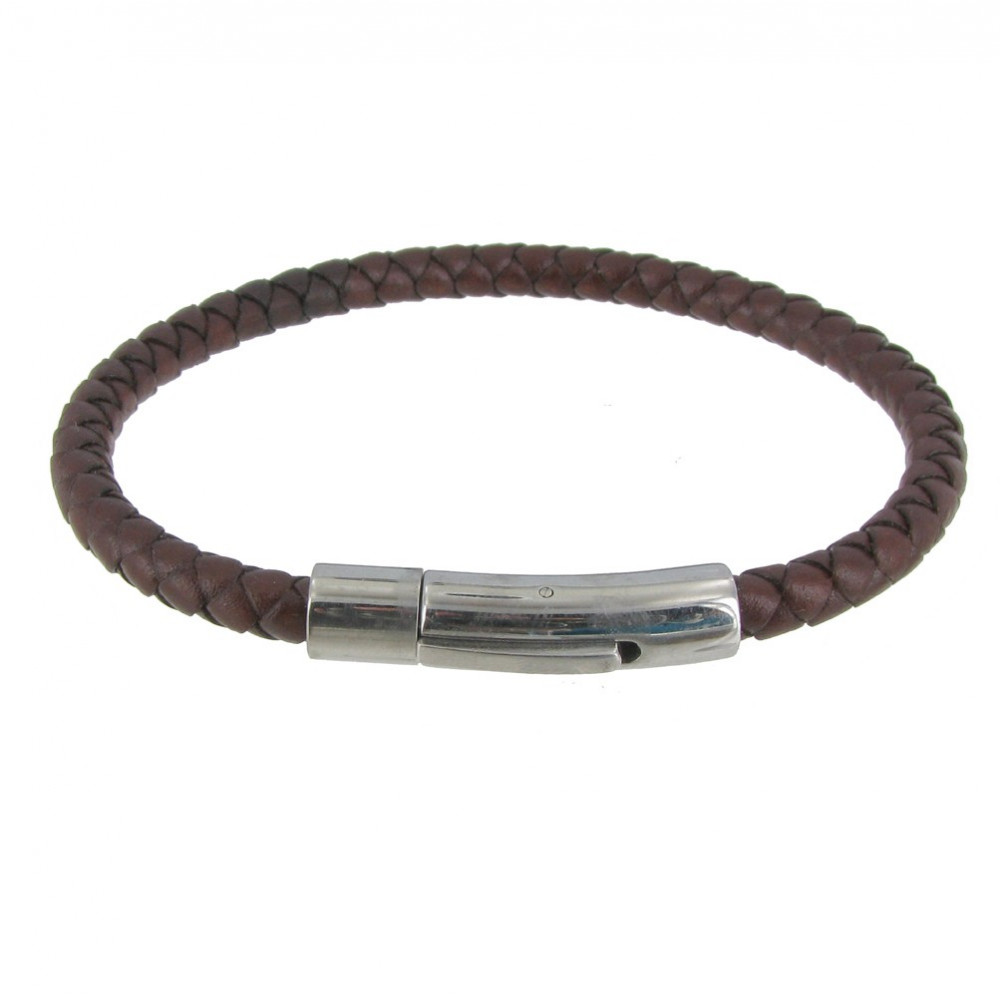 Bracelet homme cuir rond
